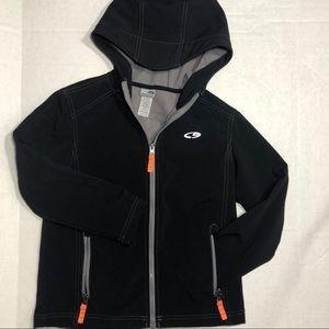 Boys Champion Jacket with Hood, Black, Size M 8/10